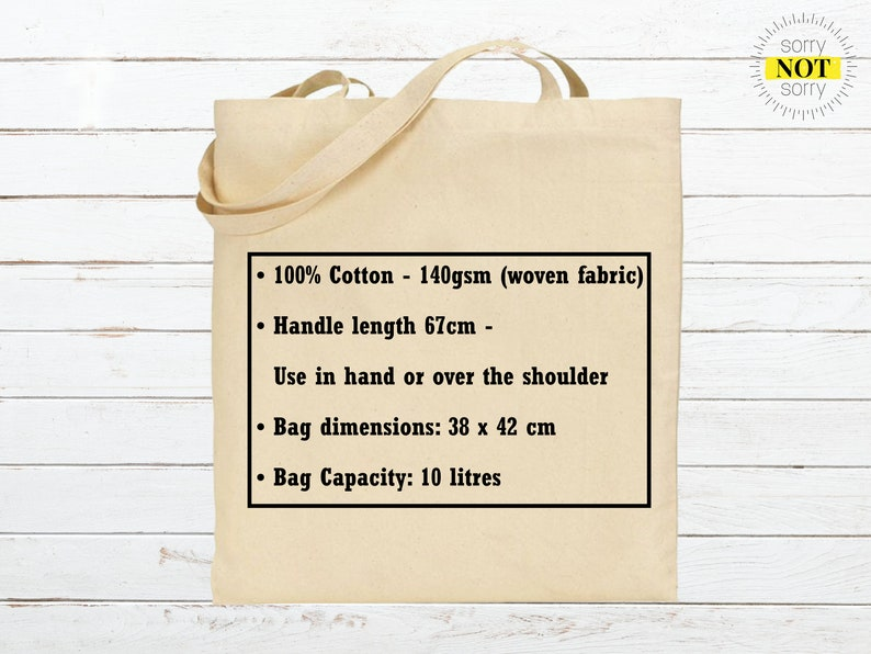 In the Nicest Way F*ck This Funny Reusable Cotton Shopping Tote Bag Perfect Small Present Gift For Her For Him Christmas Stocking Birthday