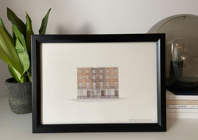 The World of Harry Potter Fantasy. Watercolor print Architecture Grimmauld Place