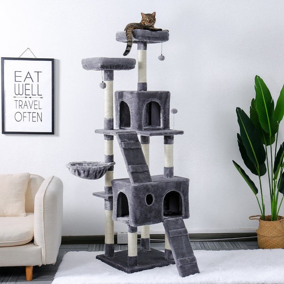Kingdom Cat Tree House Multi Level, Cat Furniture For Large Cats