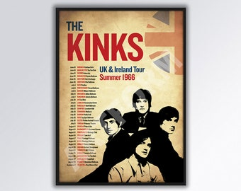 A1 A3 A2 The Kinks A0 A4 GLOSSY Wall photo poster Vintage Retro Artist
