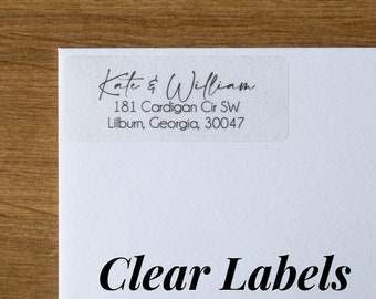 clear return address labels