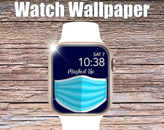 Masked Up Apple Watch Wallpaper, Apple Watch face, watch face cover, Watch Background, doctor wallpaper, Apple Watch design, fun