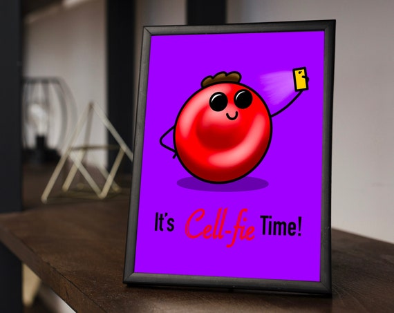 It's Cellfie Time (Brown Afro) Printable Download