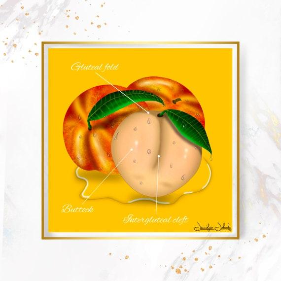 Vanilla- Fruity Juicy Booty, Printable, 30 x 30 Wall Art
