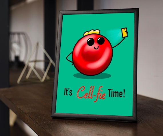 It's Cellfie Time (Blonde Afro) Printable Download