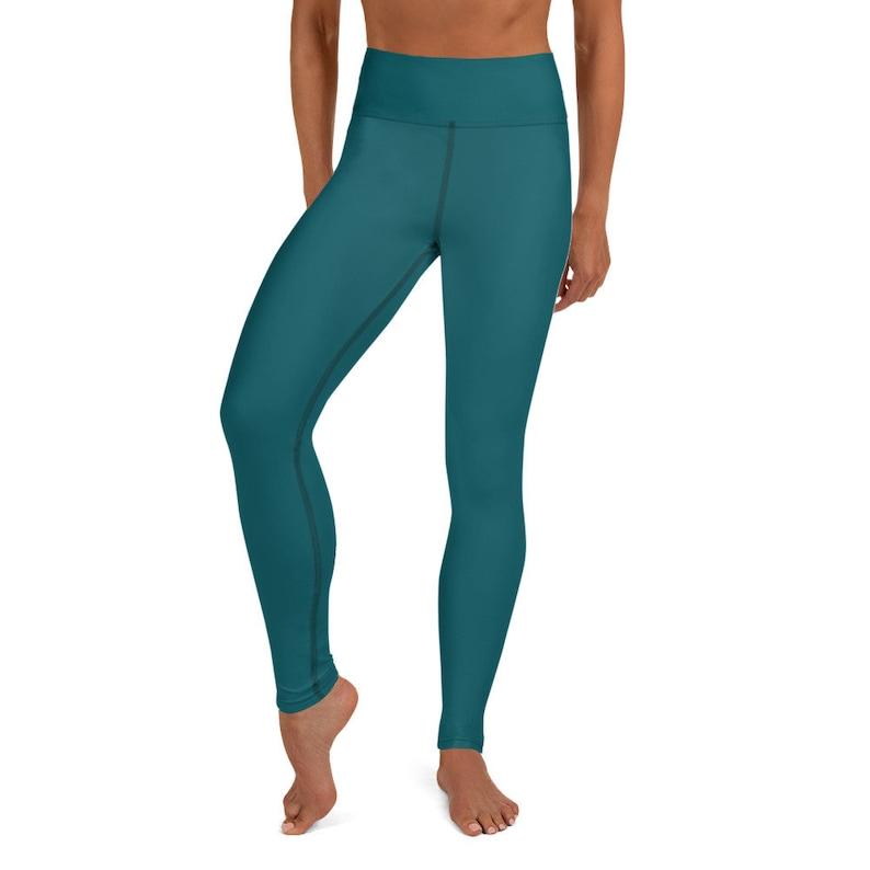 Yoga Leggings Teal Yoga leggings for women Teal Yoga Pants