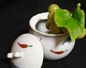 Japanese bowl arita quite peppers printed