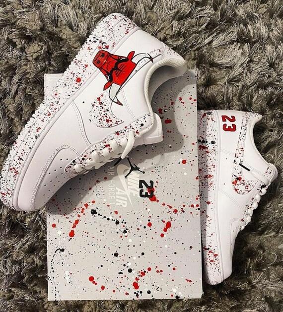 Custom Chicago Bulls Nike Air Force 1's | Etsy