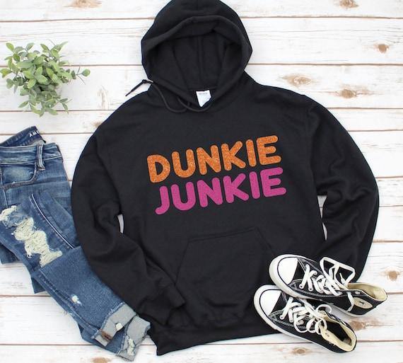 Dunkin Junkie Hoodie | Dunkin' Donuts Unisex Heavy Blend Hooded Sweatshirt