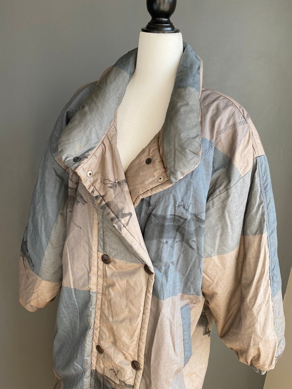80s Vintage Lutha Down Feather Long Coat Made in F