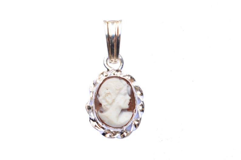 gift idea dark Silver pendant with cameo made in Italy