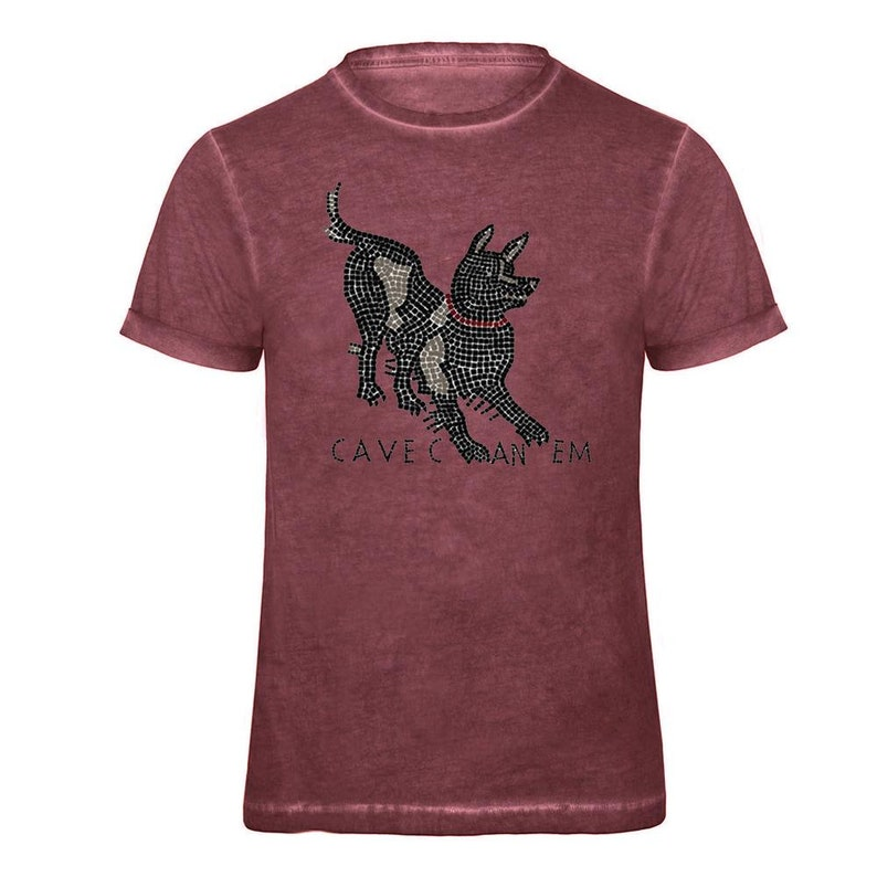 Cave Canem men/'s T-Shirt 100/% Cotton  Museum Replicas Gift Idea