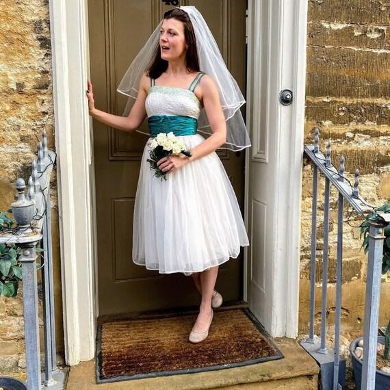 1950s beaded tulle tea dress