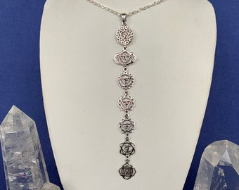 7 Seven Chakras pendant made with sterling silver
