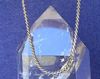 Sterling silver oxidized chain necklace for men