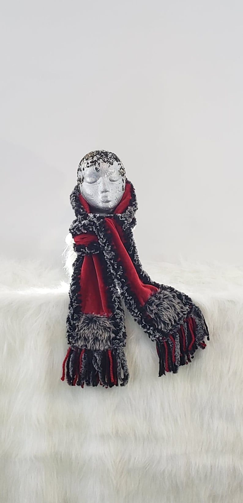 Red Scarf No. 19. To buy the corresponding toque see image 0