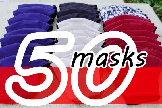 Wholesale Mask Pack 50 Pcs Black Friday Sale Fabric Face Etsy