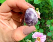 Third Eye Amethyst Crystal Egg Protection Third Eye Soothing Relaxing Psychic Awareness