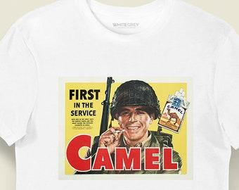 Two Camel Quilting Flag Shirt Tee Shirt Mens Shirt