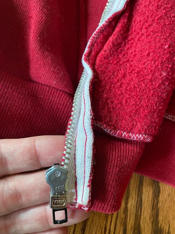 Vintage 1970s Russell Athletic Red Zip Up Hoodie - image 7
