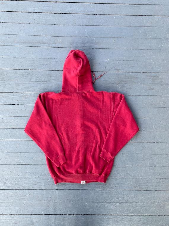Vintage 1970s Russell Athletic Red Zip Up Hoodie - image 5