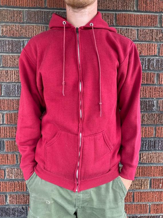 Vintage 1970s Russell Athletic Red Zip Up Hoodie - image 8