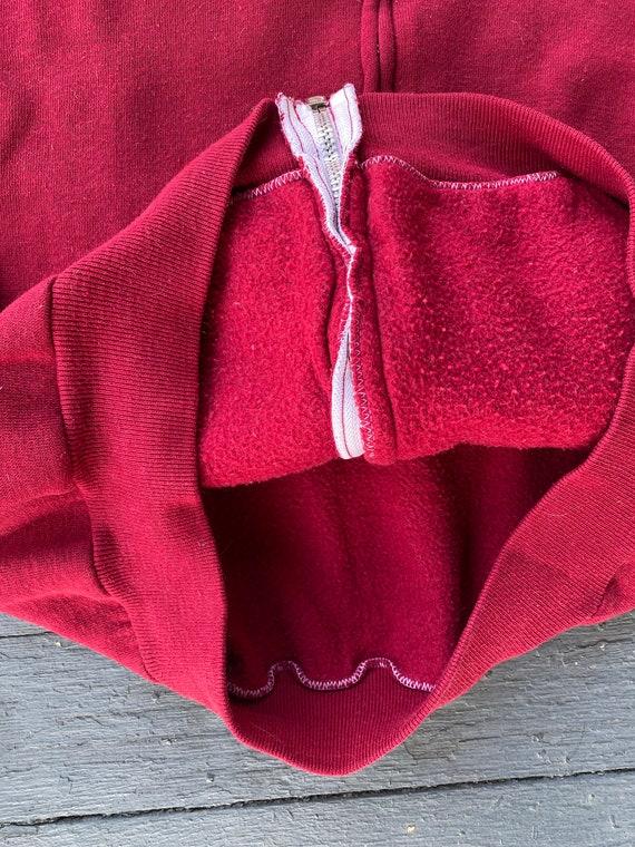 Vintage 1970s Russell Athletic Red Zip Up Hoodie - image 6