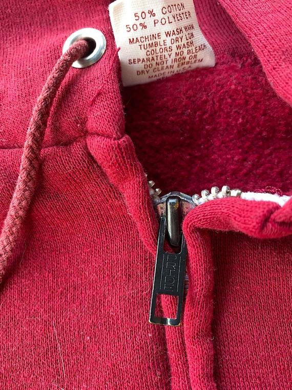 Vintage 1970s Russell Athletic Red Zip Up Hoodie - image 4