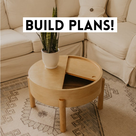 Coffee Table With Storage Build Plans Etsy