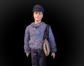 Handmade sweather and pants with accessories for Ken