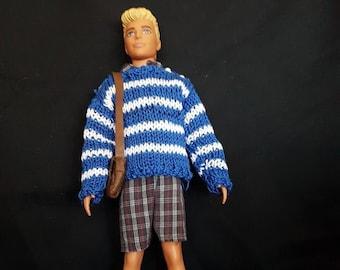 Ken's shorts, skirt, sweater, bag, belt and shoes