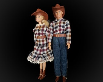 Western style outfit/ cowboy outfit  for Barbie or Ken doll