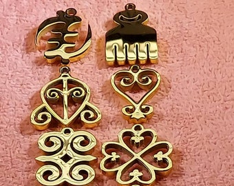 18K Gold Plated Adinkra Charms