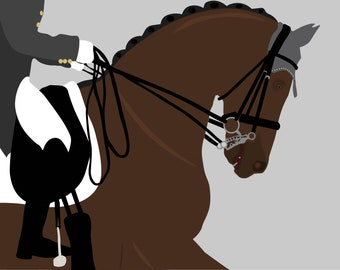 Dressage Digital Download   Horse Art