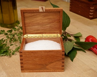 Artisan Jatoba Hand Made Salt Box, Salt Cellar, Salt Pig