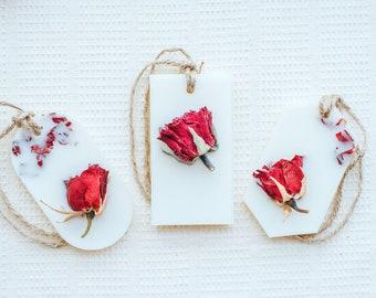 Aroma Block - Natural Home Fragrance - Freesia & Rose Paradise - Full Red Rose