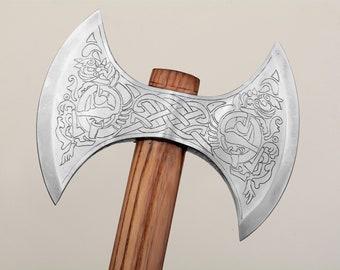 Hunting Axe Hard Steel Axe Brave Heart Axe Unique Design Axe Movie stars axe Viking Axe Wood cutting Axe XL-17