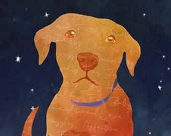 Dog Sympathy Card, Pet Sympathy Card, Pet Loss Card, Pet Bereavement Card, Pet Death, Dog Loss, Rainbow Bridge