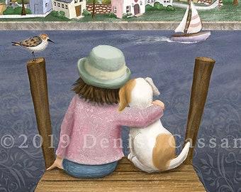 "I'm Home 11""x14"" Art Print, Dog Print, Animal Print, Dog Art, Livingroom Art, Kids Room Decor, Dog Mom, Dog Lover, Wall Decor, Nursery Art"
