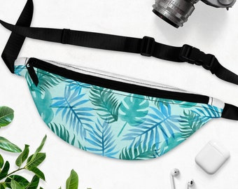 Tropical Tree Wave Sport Waist Packs Fanny Pack Adjustable For Travel