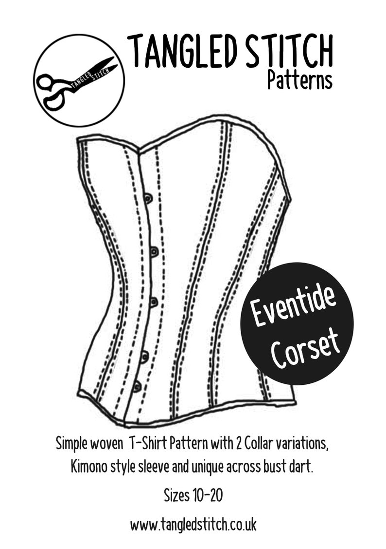 Eventide Corset Pattern  Modern Historically inspired image 0