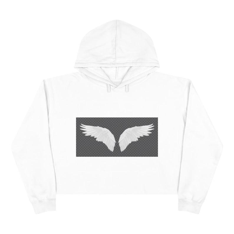 Angel Wings Crop Hoodie