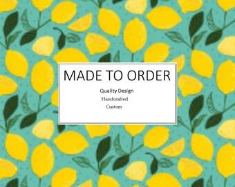 Lemon Drops - Scrub Cap, Handmade, 100% Cotton, Breathable, Traditional, Bouffant or Ponytail