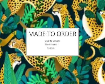 Jungle Cheetah Scrub Cap, Handmade, 100% Cotton, Breathable, Traditional, Bouffant or Ponytail