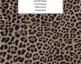 Breathable Fabric Face Mask   Made To Order   Custom Handcrafted   100% Cotton with Stretch Ear Loops - Leopard Animal Print