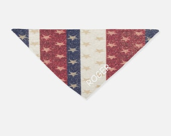 Custom Personalized Dog Bandana Scarf Neckerchief - Stars & Stripes