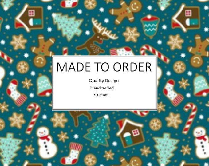 Featured listing image: Gingerbread Christmas Scrub Cap, Handmade, 100% Cotton, Breathable, Traditional, Bouffant or Ponytail