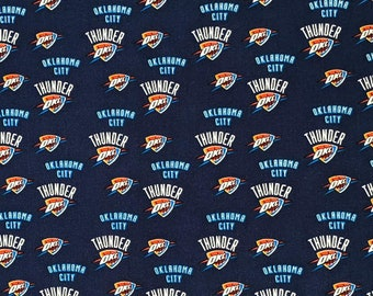 Handmade 100% Cotton Cloth Face Mask Reusable, Breathable Airborne Particle Protection - Oklahoma City Thunder