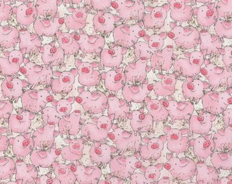 Made to Order - Handmade Medical Surgical Scrub Cap - Pink Pigs