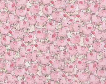 Breathable Fabric Face Mask | Made To Order | Custom Handcrafted | 100% Cotton with Stretch Ear Loops - Pink Pigs